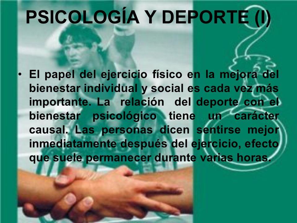PSICOLOGÍA Y DEPORTE (I)