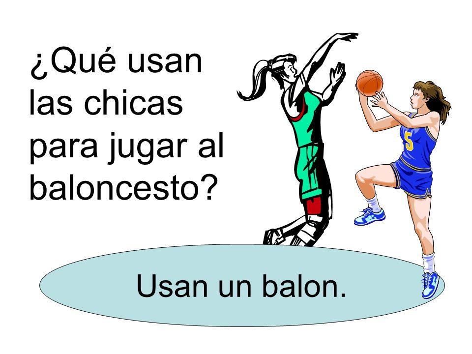 ¿Qué usan las chicas para jugar al baloncesto