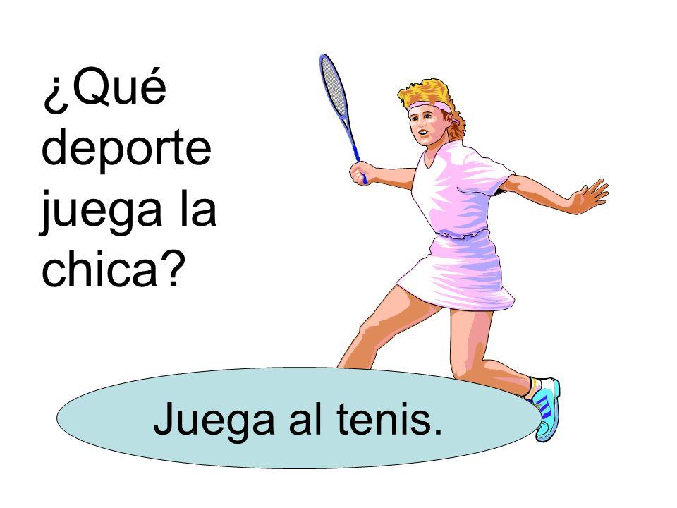 ¿Qué deporte juega la chica