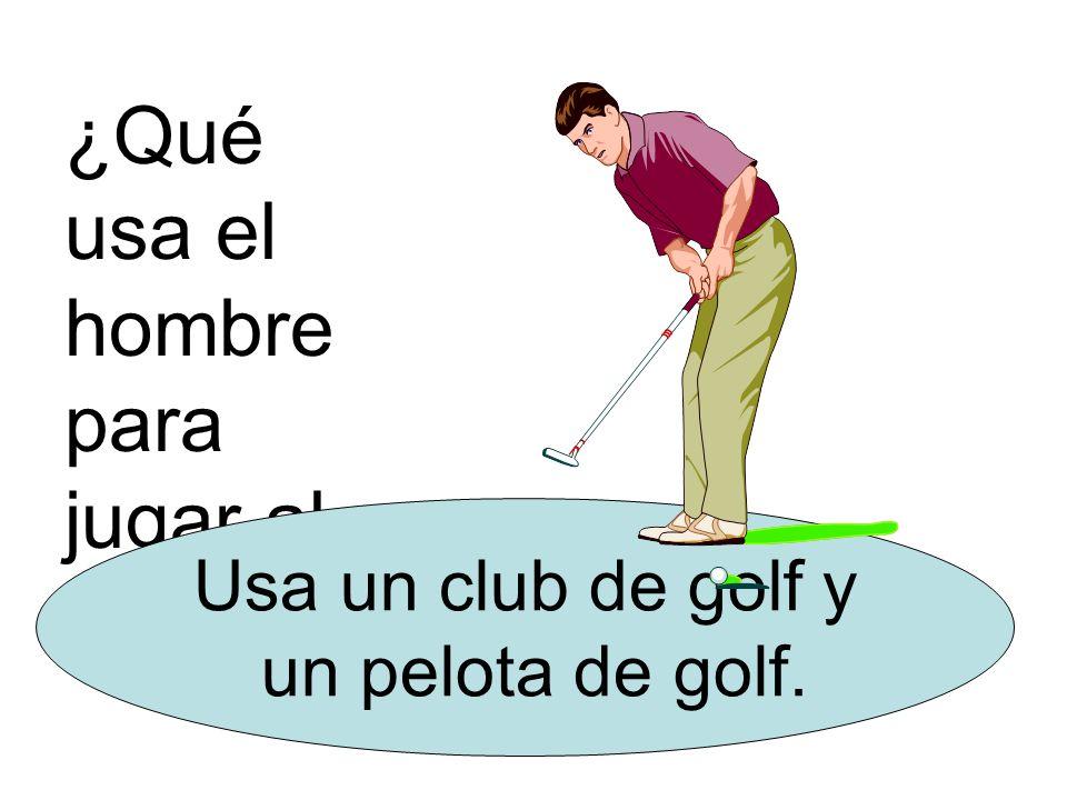 ¿Qué usa el hombre para jugar al golf