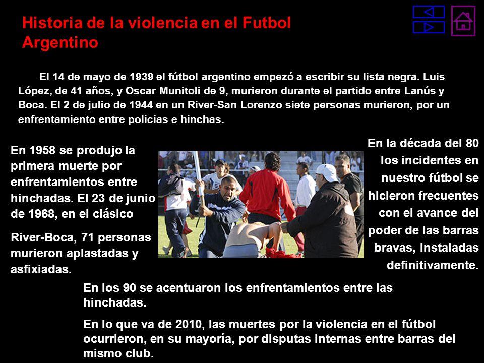 Historia de la violencia en el Futbol Argentino