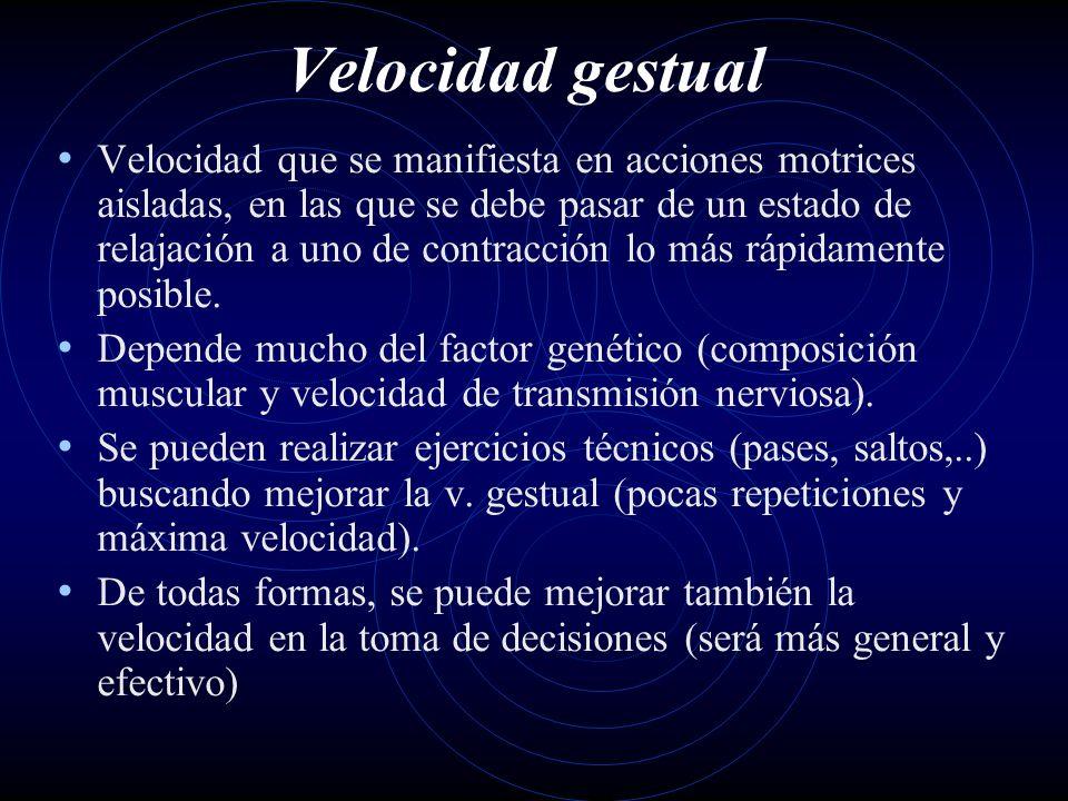 Velocidad gestual