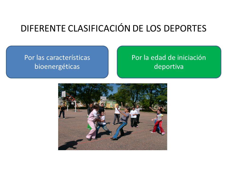DIFERENTE CLASIFICACIÓN DE LOS DEPORTES