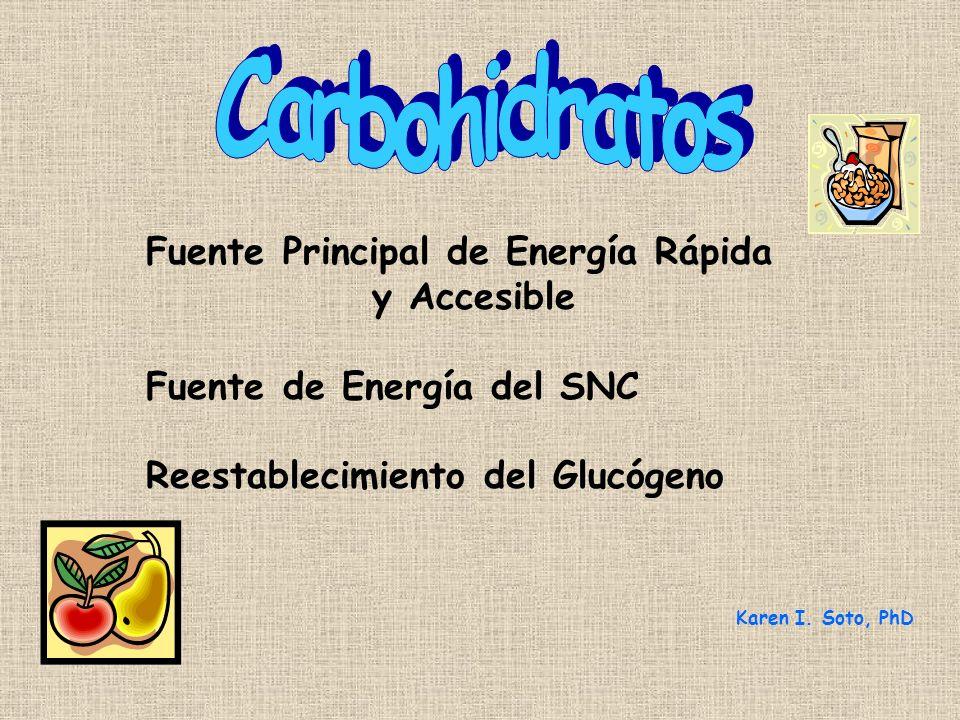 Carbohidratos Fuente Principal de Energía Rápida y Accesible