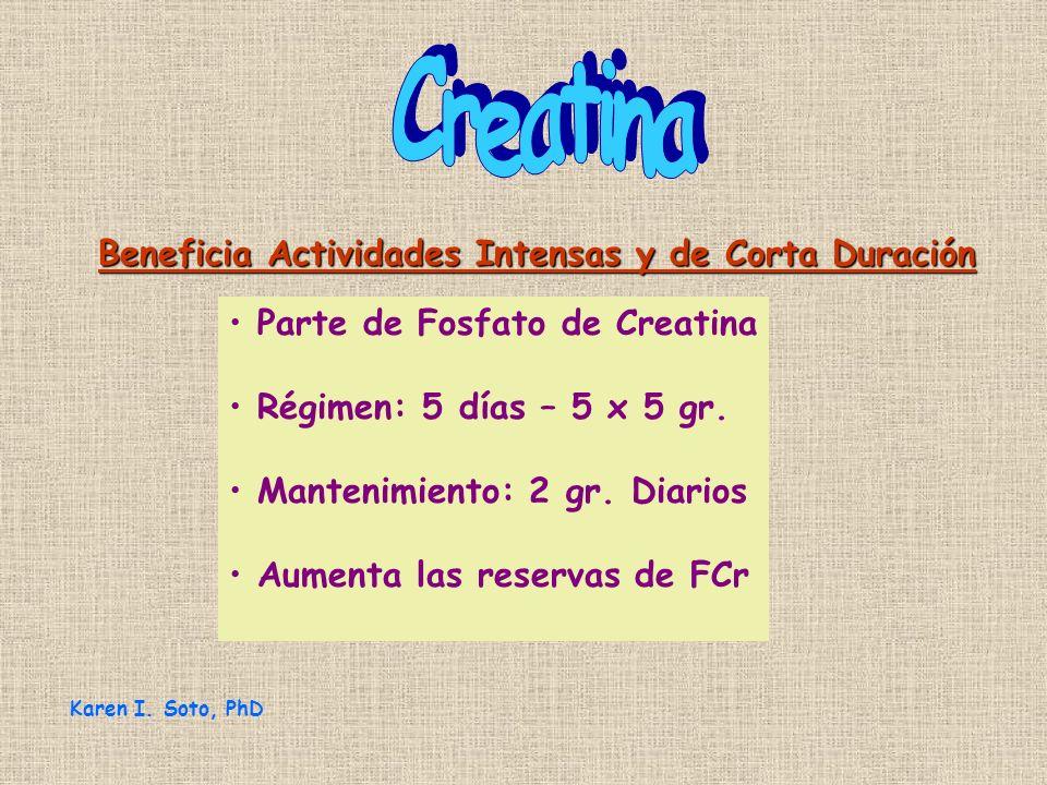 Creatina Beneficia Actividades Intensas y de Corta Duración