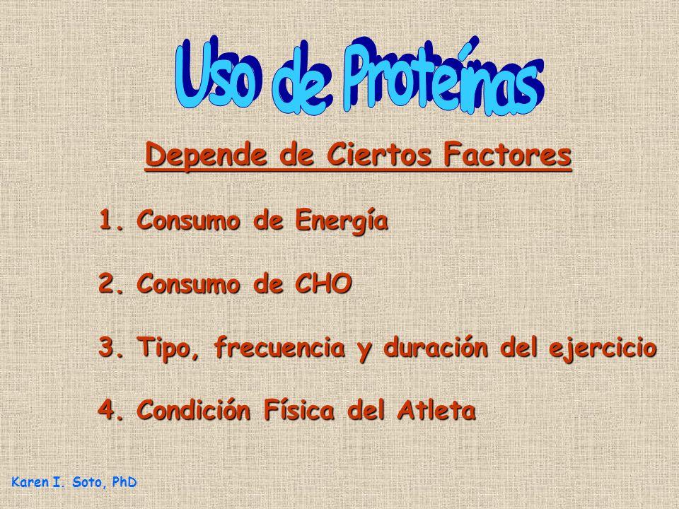 Uso de Proteínas Depende de Ciertos Factores 1. Consumo de Energía