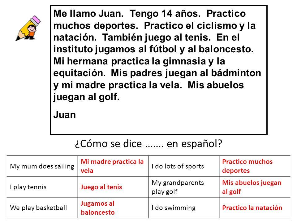 ¿Cómo se dice ……. en español