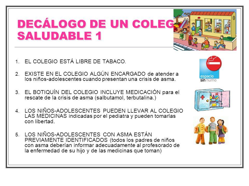 DECÁLOGO DE UN COLEGIO SALUDABLE 1