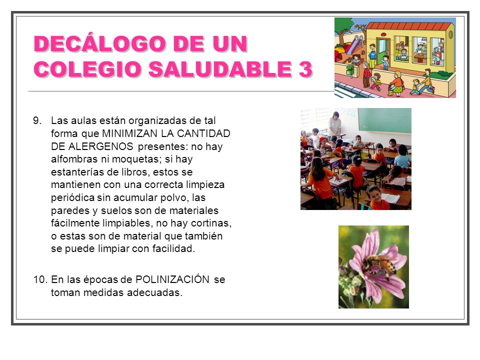 DECÁLOGO DE UN COLEGIO SALUDABLE 3