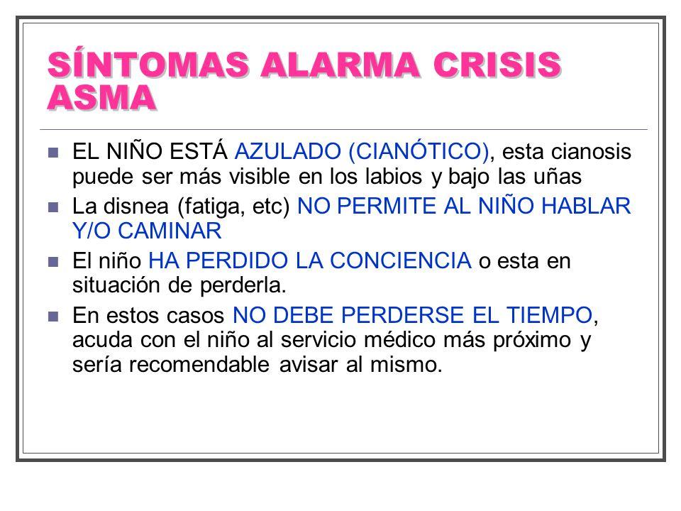 SÍNTOMAS ALARMA CRISIS ASMA