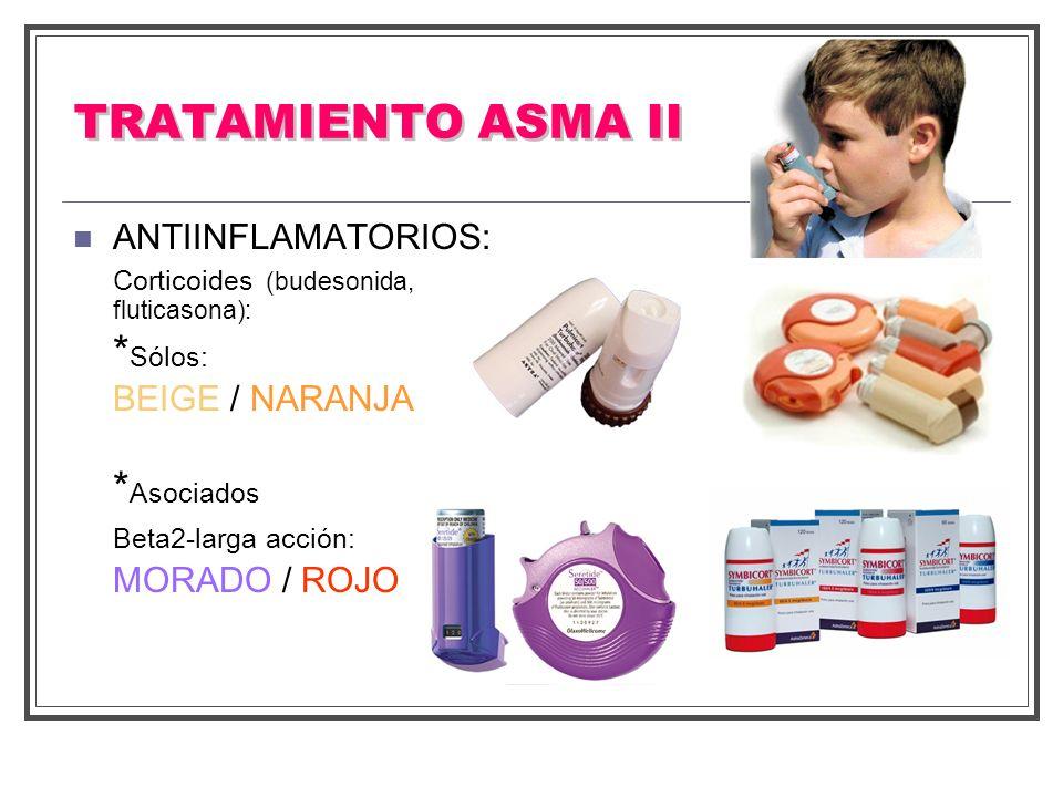 TRATAMIENTO ASMA II *Sólos: *Asociados MORADO / ROJO