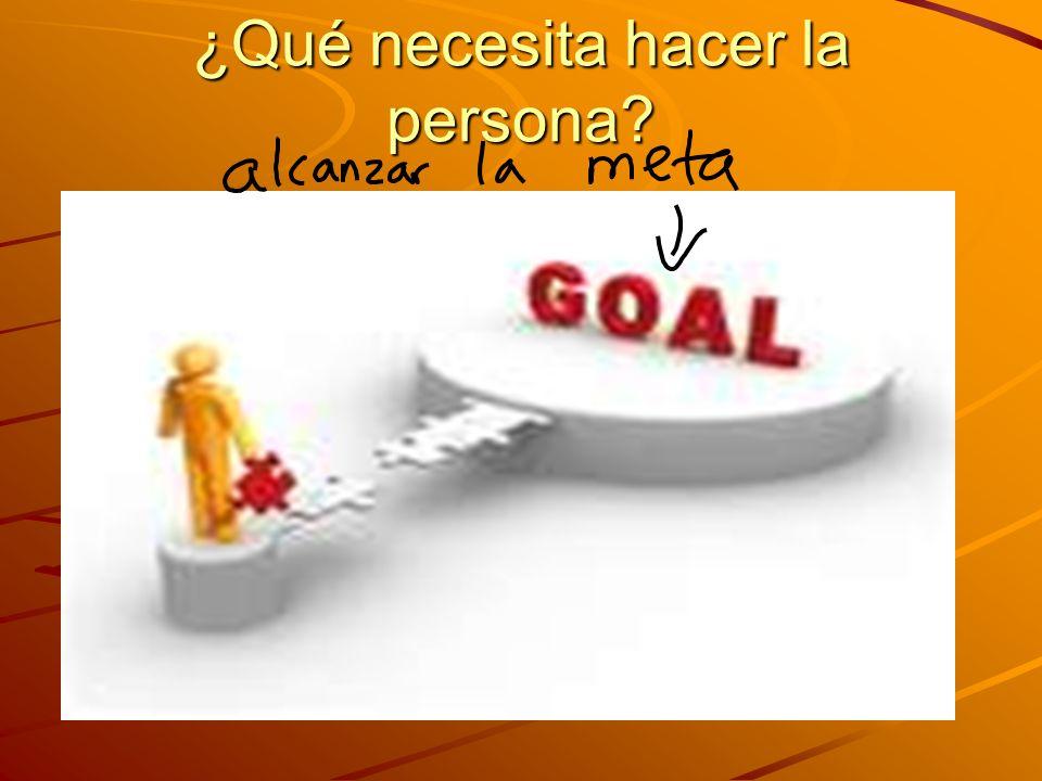 ¿Qué necesita hacer la persona