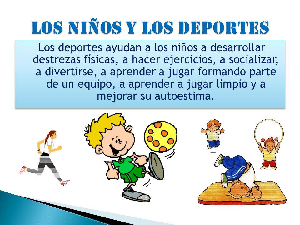 LOS NIÑOS Y LOS DEPORTES