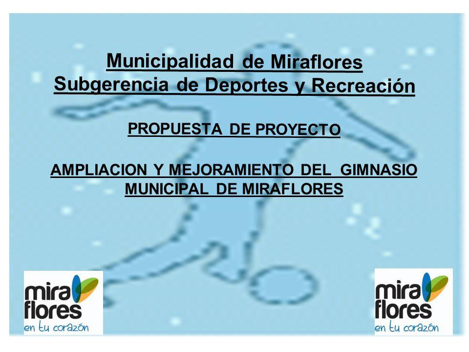 AMPLIACION Y MEJORAMIENTO DEL GIMNASIO MUNICIPAL DE MIRAFLORES