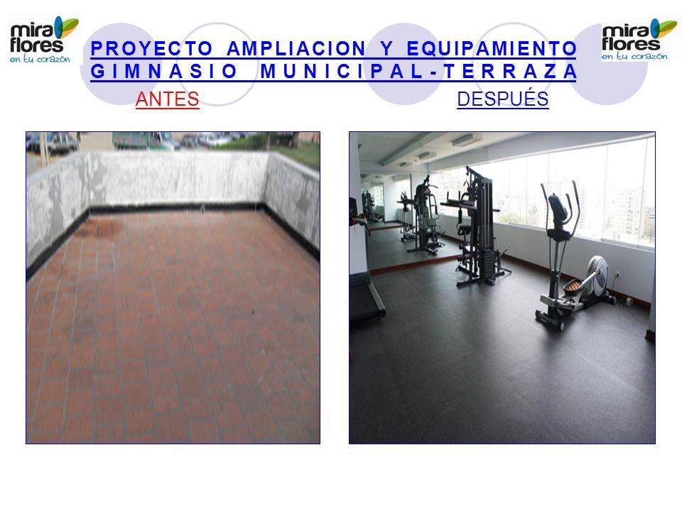 PROYECTO AMPLIACION Y EQUIPAMIENTO GIMNASIO MUNICIPAL-TERRAZA