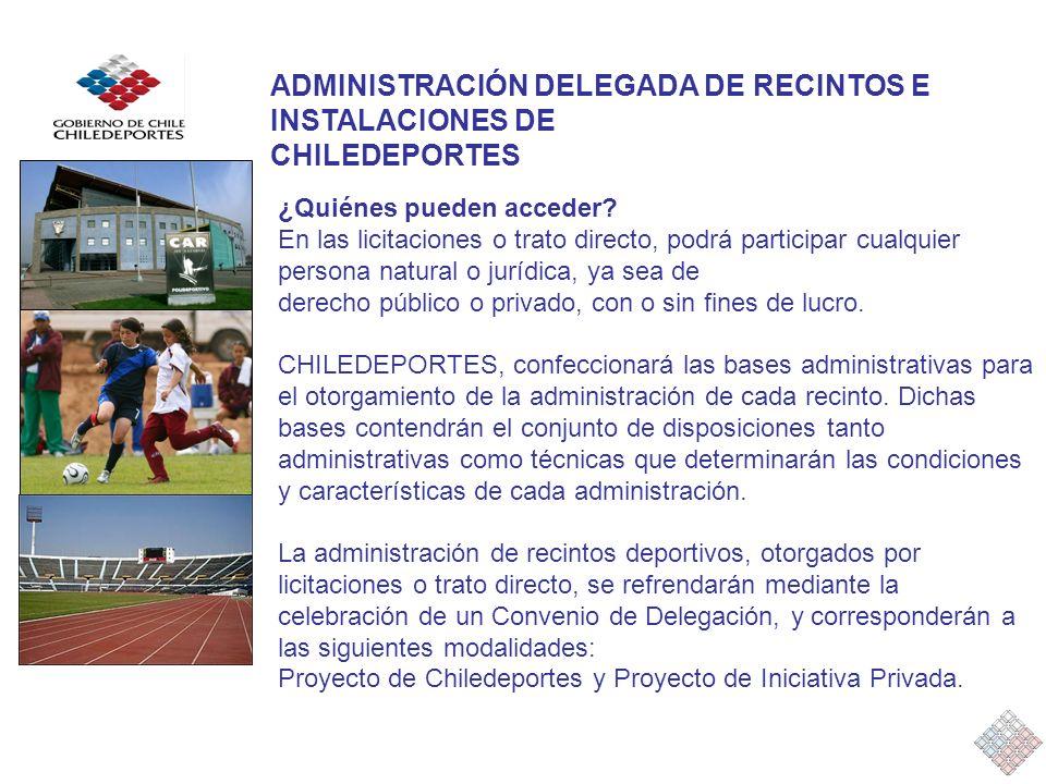 ADMINISTRACIÓN DELEGADA DE RECINTOS E INSTALACIONES DE CHILEDEPORTES