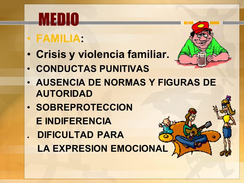 MEDIO FAMILIA: Crisis y violencia familiar. CONDUCTAS PUNITIVAS