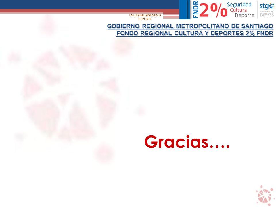 Gracias…. GOBIERNO REGIONAL METROPOLITANO DE SANTIAGO