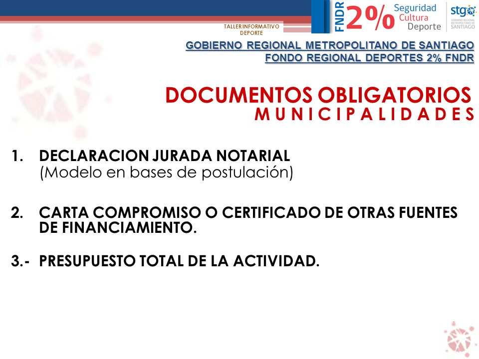 DOCUMENTOS OBLIGATORIOS