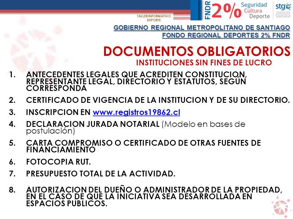 INSTITUCIONES SIN FINES DE LUCRO