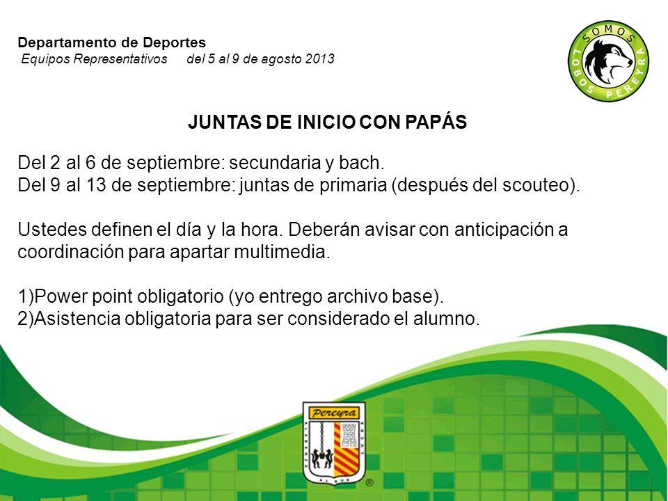 JUNTAS DE INICIO CON PAPÁS