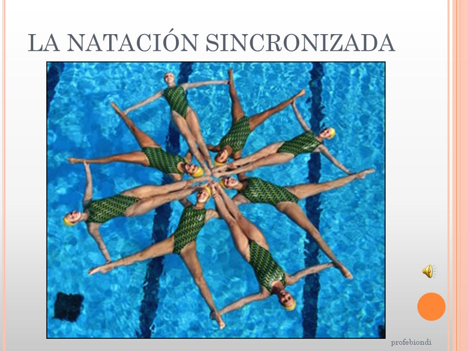 LA NATACIÓN SINCRONIZADA