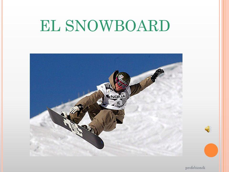 EL SNOWBOARD profebiondi