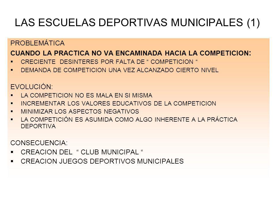 LAS ESCUELAS DEPORTIVAS MUNICIPALES (1)