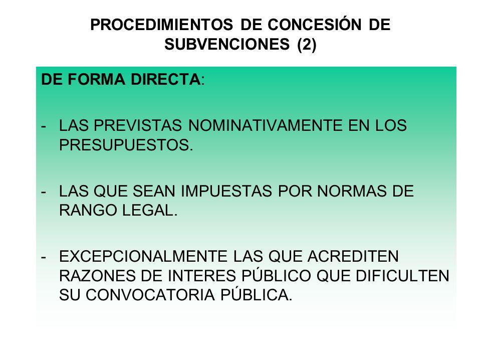PROCEDIMIENTOS DE CONCESIÓN DE SUBVENCIONES (2)
