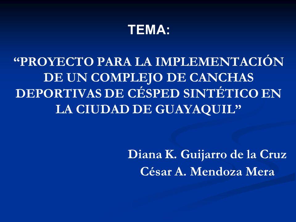 Diana K. Guijarro de la Cruz César A. Mendoza Mera