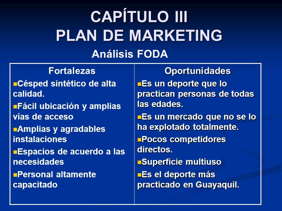 CAPÍTULO III PLAN DE MARKETING