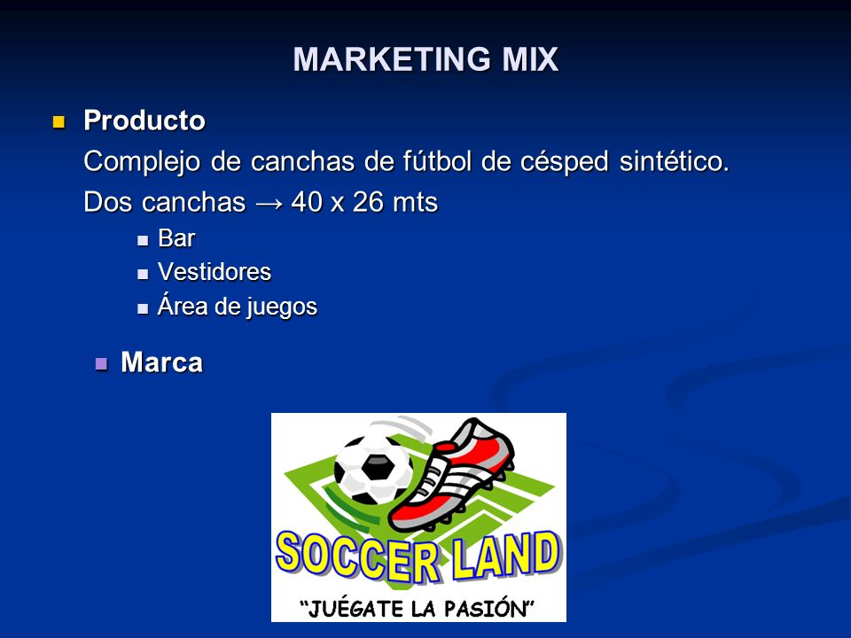 MARKETING MIX Producto