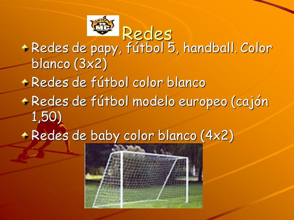 Redes Redes de papy, fútbol 5, handball. Color blanco (3x2)