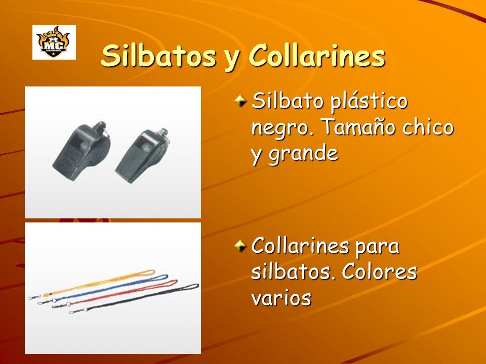 Silbatos y Collarines Silbato plástico negro. Tamaño chico y grande