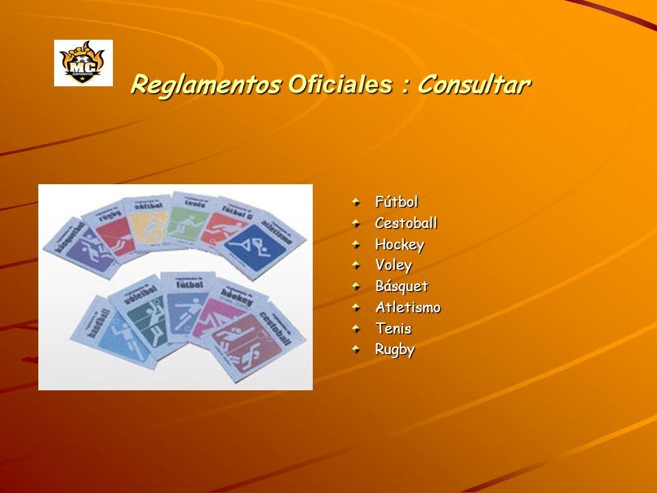 Reglamentos Oficiales : Consultar