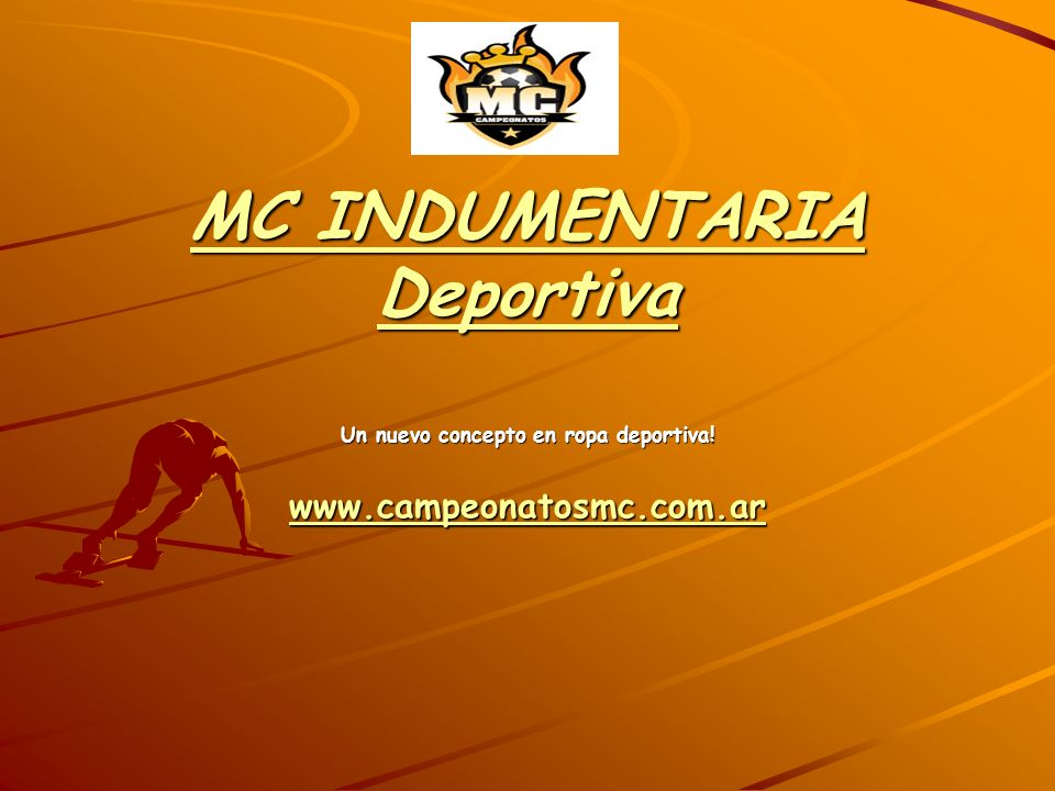 MC INDUMENTARIA Deportiva