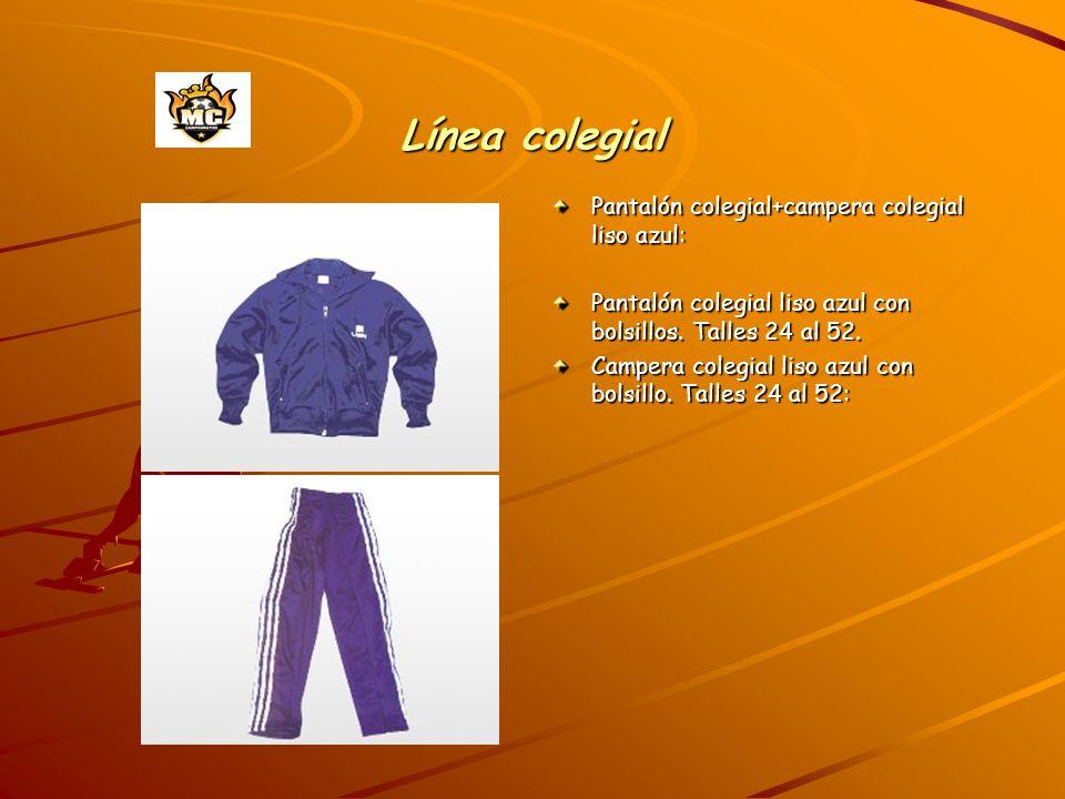 Línea colegial Pantalón colegial+campera colegial liso azul: