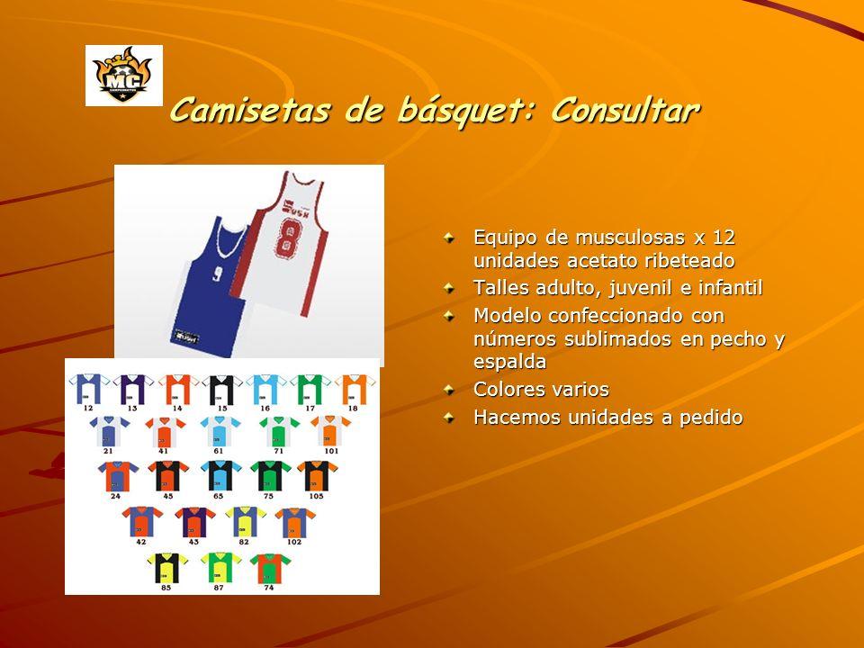 Camisetas de básquet: Consultar