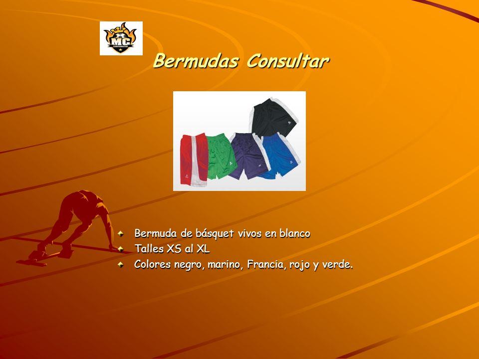 Bermudas Consultar Bermuda de básquet vivos en blanco Talles XS al XL