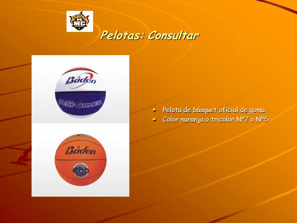 Pelotas: Consultar Pelota de básquet oficial de goma