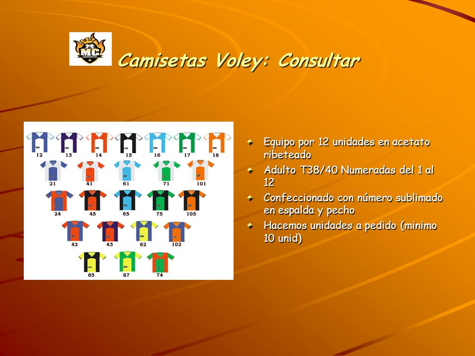 Camisetas Voley: Consultar