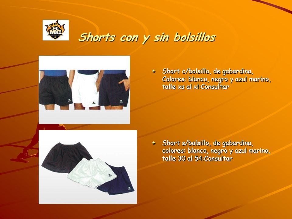 Shorts con y sin bolsillos
