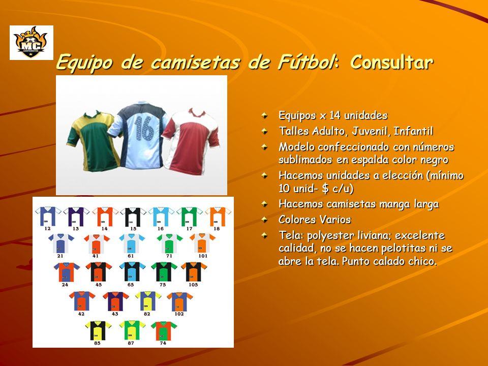 Equipo de camisetas de Fútbol: Consultar