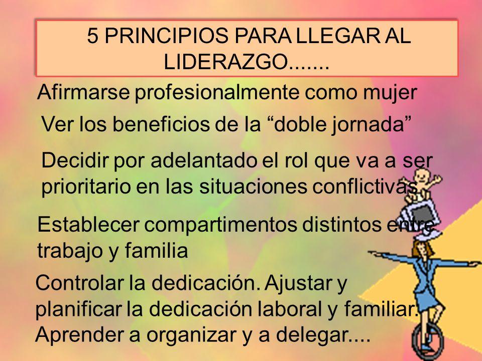 5 PRINCIPIOS PARA LLEGAR AL LIDERAZGO.......