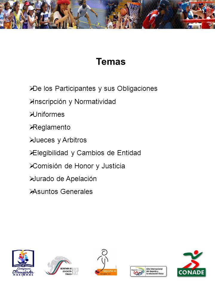 Temas De los Participantes y sus Obligaciones
