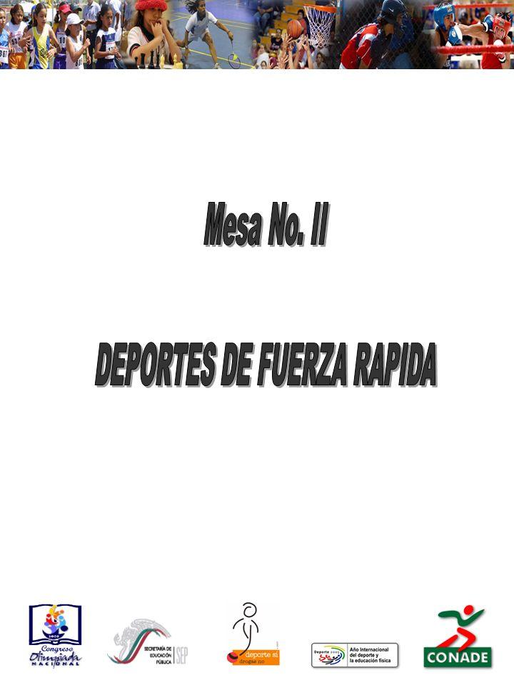 DEPORTES DE FUERZA RAPIDA
