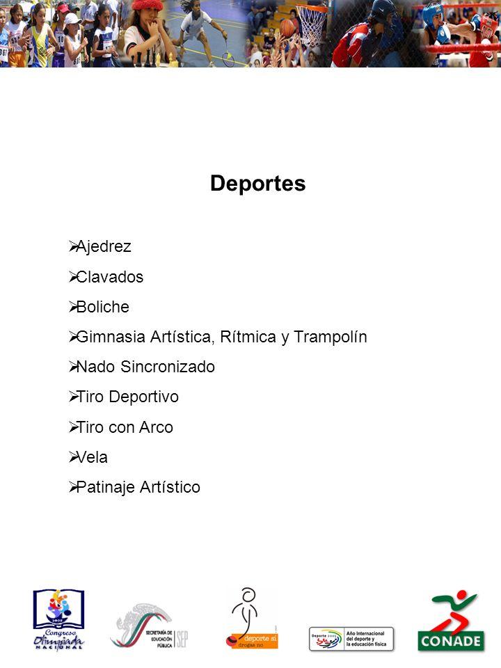 Deportes Ajedrez Clavados Boliche