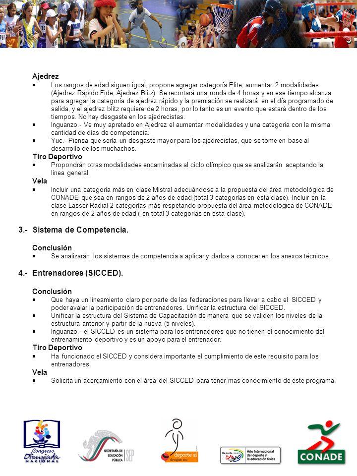 3.- Sistema de Competencia.
