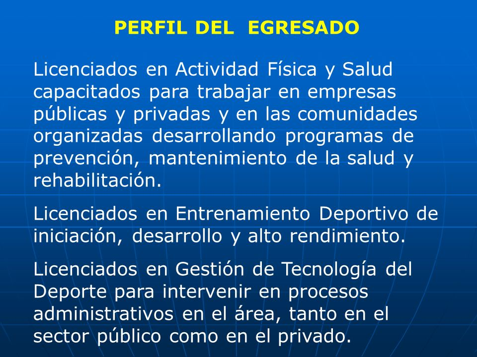 PERFIL DEL EGRESADO