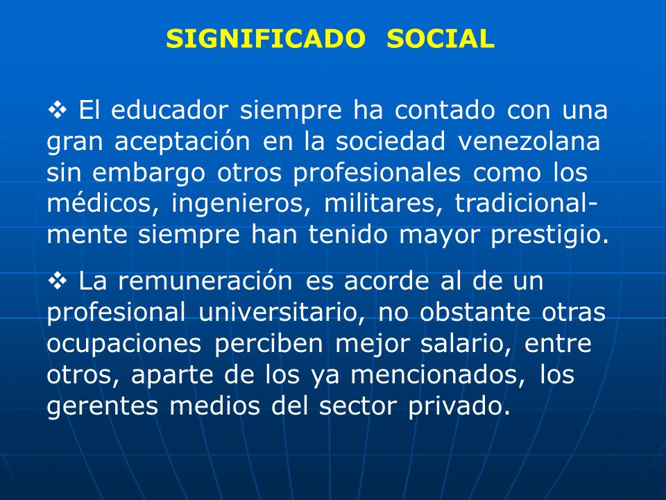 SIGNIFICADO SOCIAL
